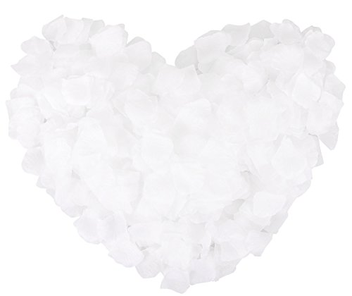 1000 Pcs Silk Artificial Rose Petals Wedding Party Decorations, -
