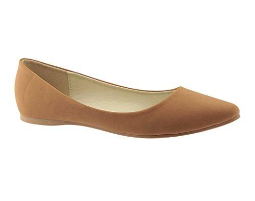 Bellamarie+Angie-29+Women%27s+Classic+Pointy+Toe+Ballet+Flats%2CTan%2C7.5