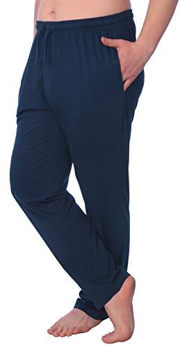 (Men's Jersey Knit Pajama Pants Long Lounge Pants Available in Plus Size MLP01_18 Blue 1X)