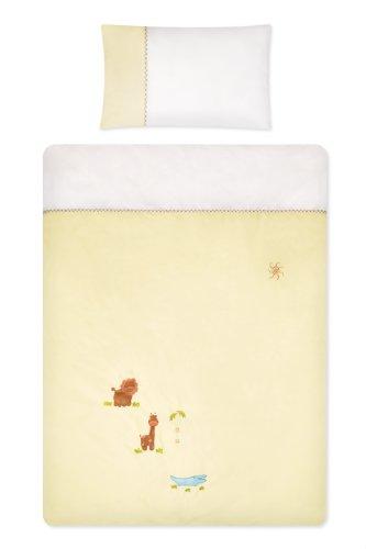 Schlummersack Baby Bettwӓsche mit Stickerei Zoo, Baumwolle, 2teilig 100x135