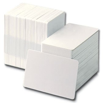 ACB Ltd 100 X Blank White PVC Plastic ID Cards  Blank Membership Cards
