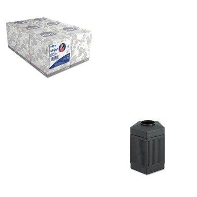 KITKIM21271SAF9486BL - Value Kit - Safco Canmeleon Indoor/Outdoor Receptacle (SAF9486BL) and KIMBERLY CLARK KLEENEX White Facial Tissue (KIM21271)
