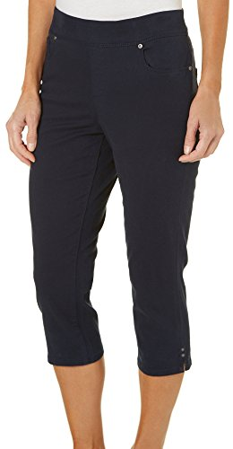 Gloria Vanderbilt Womens Avery Elastic Capris 12 Midnight affair blue