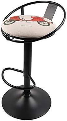 バーチェアー回転バーカウンターチェアメタルスツール背もたれカウンターチェア高さ調節レストランカフェに最適レストランバービストロラウンジサロン (Color : A)