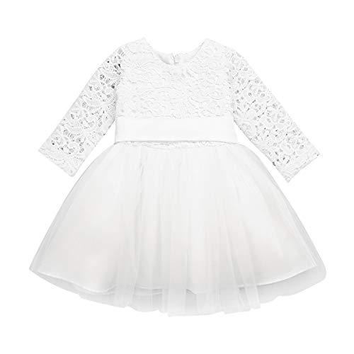 Nvfshreu Babymeisjeskleding lange mouwen doopjurk kant bloemenmeisje partyjurk jurk 1 eenvoudige stijl verjaardagsjurk…