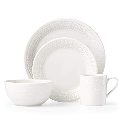 Kate Spade New York 882812 Willow Drive Cream 4 Piece Place Setting