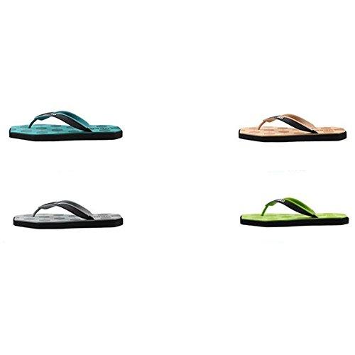 XIAOLIN Chanclas de los hombres de la personalidad Chanclas de la playa del verano al aire libre antideslizantes del pie sandalias de la playa (tres colores a elegir de) (tamaño opcional) ( Color : 03 03