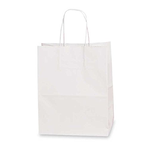 White Glossy Gift Bags | Quantity: 200 | Width: 16'' by Paper Mart (Image #1)