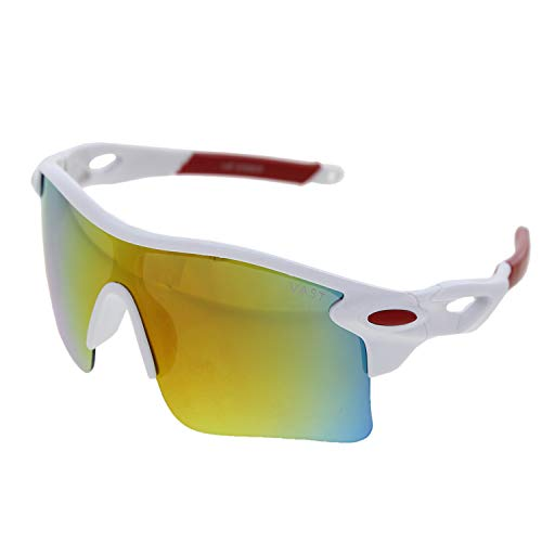 Vast Day And Night Vision Sports Unisex Sunglasses (9181) (BLK RED GREY)