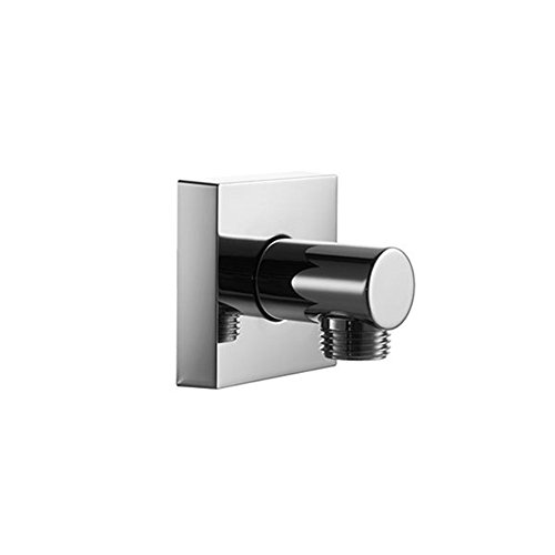Blu Bathworks TC801 Round Wall Union Water Outlet, Polished Chrome Finish