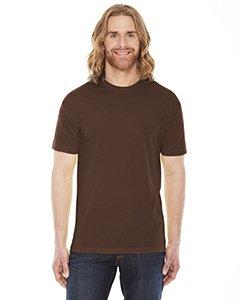 (American Apparel BB401W Unisex Poly-Cotton Short-Sleeve Crewneck Brown L )