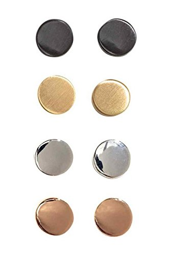 TKHNE Special Offer! & Genuine counter frosted matte black gold buttons wafer Department earrings