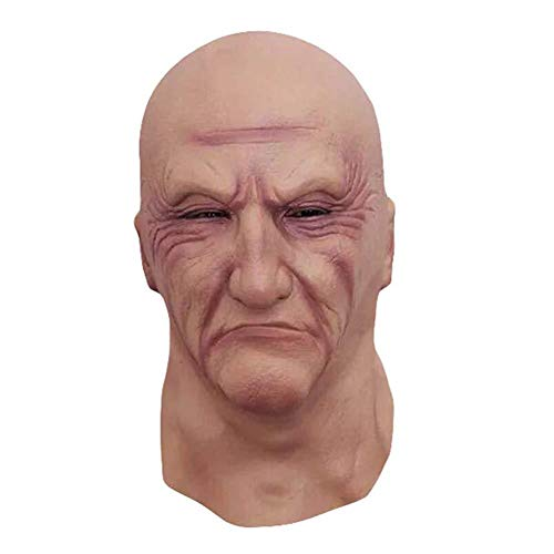 mickyshoes Halloween mask Horror Story Lovers Party Headgear Scary Spoof Latex Hood Free Makeup Old Man mask