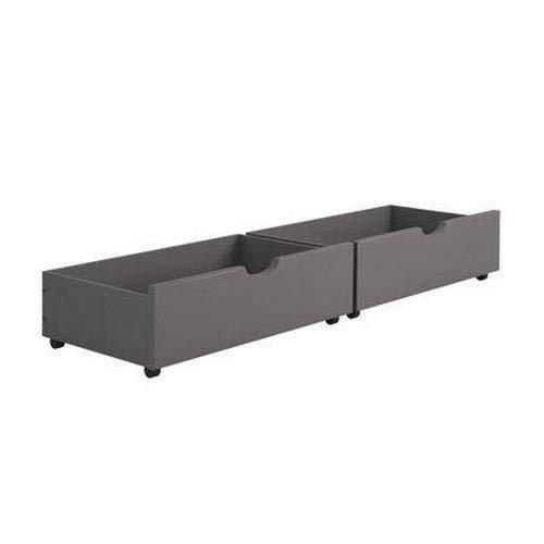 Donco Kids 505-DG Dual Under Bed Drawer One Size Dark Grey