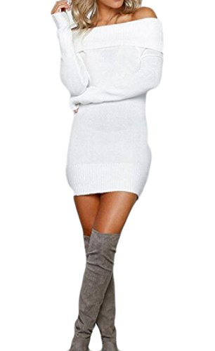 Flexible Women's Sweatshirt Club Sexy Dresses Bodycon White Strapless Fit Comfy pqwEwv