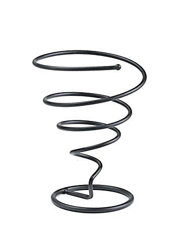 G.E.T. Enterprises Black Metal Spiral Cone French Fry Holder Iron Powder Coated Specialty Servingware Collection 4-318180 (Pack of 1)