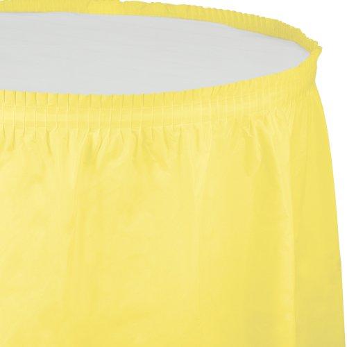 Creative Converting Plastic Table Skirt, 14-Feet, Mimosa
