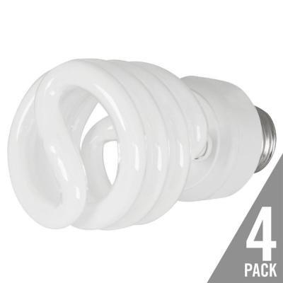 EcoSmart 100W Equivalent Daylight 4-Pack 5000K Spiral CFL Light Bulb