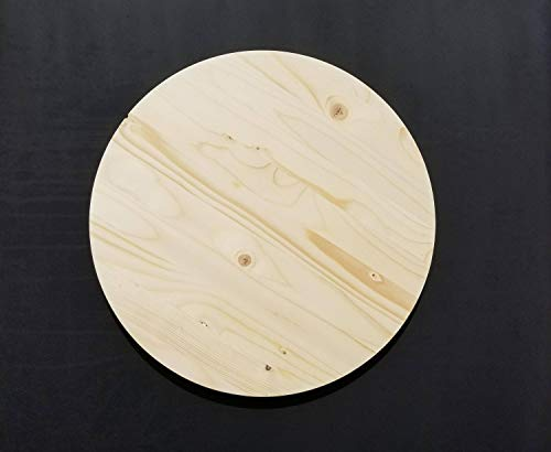MarthaFox Wood Round 34 Thick Wood Round Unfinished Clock face Wood Circle Round Cutout Unfinished Blank Clock face Wooden Round Blank ()