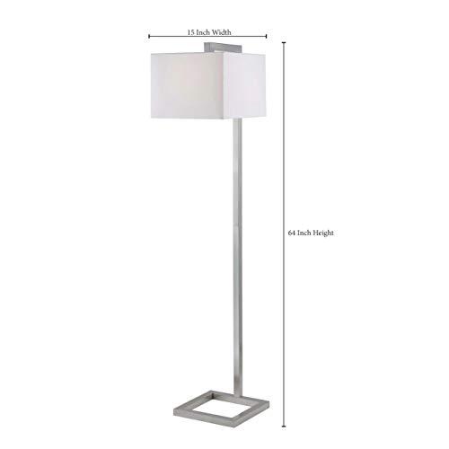 Kenroy Home 21080BS 4 Square Floor Lamp, Brushed Steel