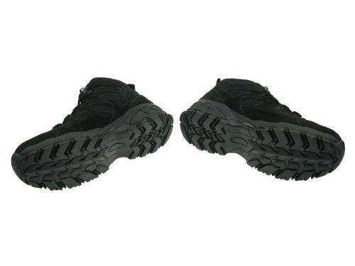 Leder Leichter Nyloneinsätzen Trooper gepolstert schwarz Stiefel mit aus knöchelhoher rIRInqg