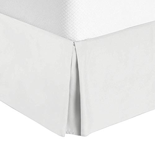 Bellacasa creations Box Pleated Bed Skirt-400 Thread Count 100% Organic Cotton,Quadruple Pleated, Wrinkle and Fade Resistant, 19