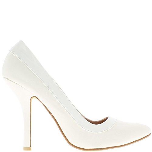 Escarpins Femme Grande Taille Blancs
