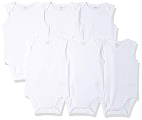 Amazon Essentials Girls' Infant 6-Pack Sleeveless Bodysuits