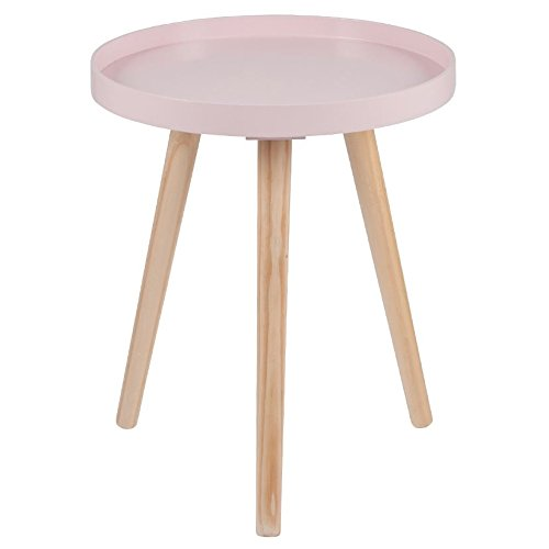 dffu Pink Pine Wood & MDF Round Table Small