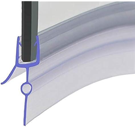 HNNHOME® - Tira de sellado para mampara de ducha de goma precurvada de 870 mm, perfecta para puertas de cristal curvadas o rectas de 4-6 mm, hueco de 16-22 mm: Amazon.es: Hogar