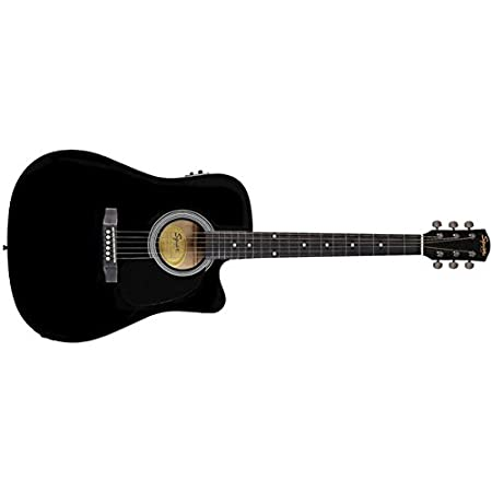 Fender SA105CEBK Acoustic Guitar Acoustic Steel-String Guitars at amazon