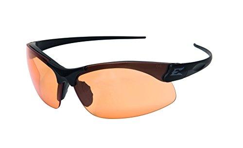 Edgeware adultes Tactical Safety Eyewear, Sharp Edge, noir mat, revêtement Verres, beschlage libre Tiger S Eye Lunettes de protection verres, multicolore, Taille unique