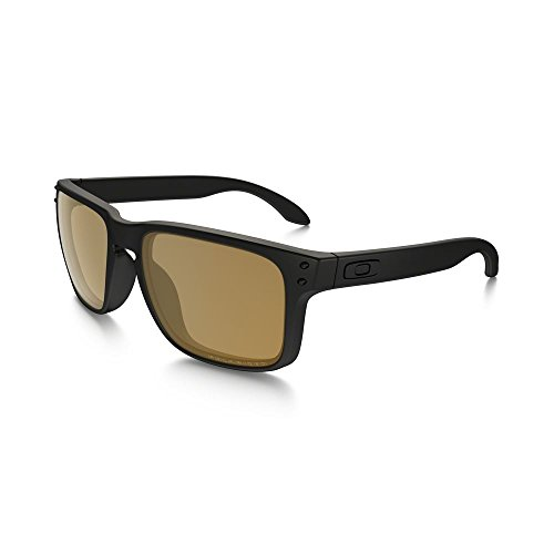 Oakley Mens Holbrook Polarized Matte Black/Bronze, One - Holbrook Size