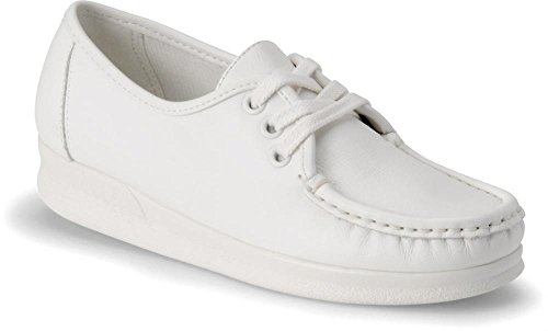 Women's Nurse Mates ANNIE LO Moccasins WHITE 10 WW by Nurse Mates