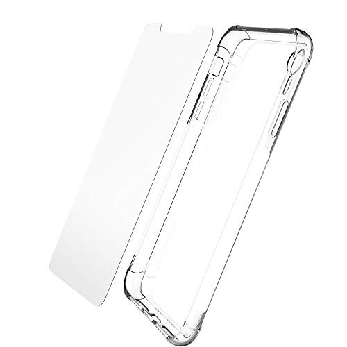 Luvvitt iPhone XR Case and Tempered Glass Screen Protector Set Crystal View Cover with Shockproof Slim TPU Scratch Resistant Silicone Gel Cover for 6.1 inch Apple iPhone XR (2018) 10R - Bundle