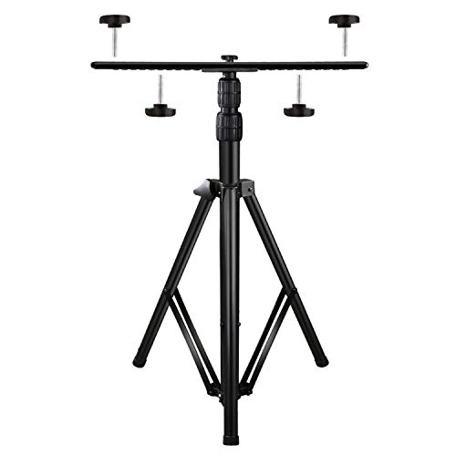 Upgraded Adjustable Tripod Stand for LED Flood Light 6.55 Feet Stainless Steel Heavy Duty LED Work Light Tripod Stand for Auto, Home, Work, Job, Construction, Camping, Indoor and Outdoor Use