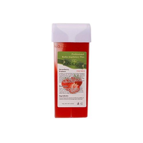 Allrise 100g Roll On HOT Depilatory Wax Cartridge Heater Waxing Hair Removal (Strawberry)