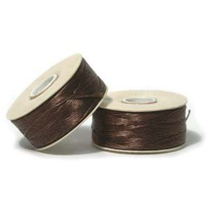 Delica Beaded Jewelry (NYMO Nylon Beading Thread Size D for Delica Beads Brown 64 Yards (58 Meters))