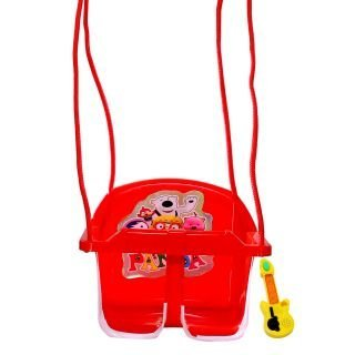 BrijBazaar Panda Eco Musical Swing - with Multiple Age Settings - Red