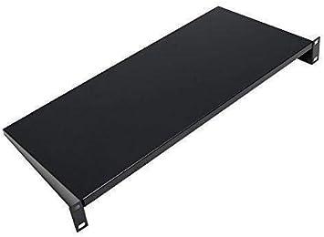 "19/"" 1u rack shelf black"