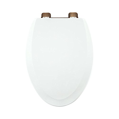 Centoco 900RO-001 Wood Elongated Toilet Seat with Closed Front, White by Centoco