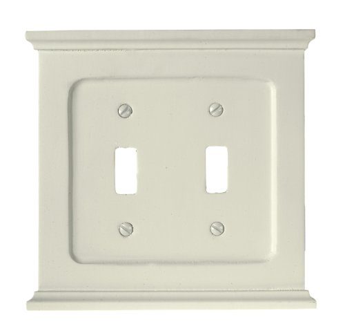 Double Mantel - Amerelle 178TTW Mantel Double Toggle Wallplate, White