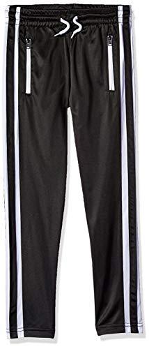 (Southpole - Kids Boys' Big Track Pants, Black Reversed Zipper, X-Large)