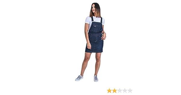 Darkwash Dungaree Dress Bib Overall skirt USKEES GEORGIA Short Denim Pinafore