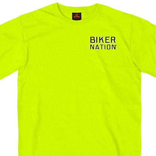 Hot Leathers Unisex-Adult T-Shirt Safety Green Large GMD1410
