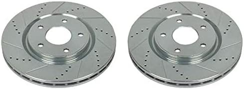 Power Stop AR83080XPR Front Evolution Drilled /& Slotted Rotor Pair
