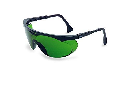 (Uvex S1907 Skyper Safety Eyewear, Black Frame, Shade 3.0 Infra-Dura Ultra-Dura Hardcoat Lens )