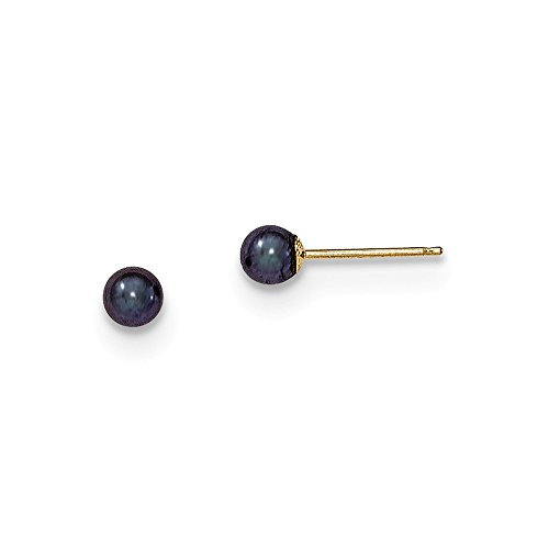 14k Gold 3mm Pearl - 6