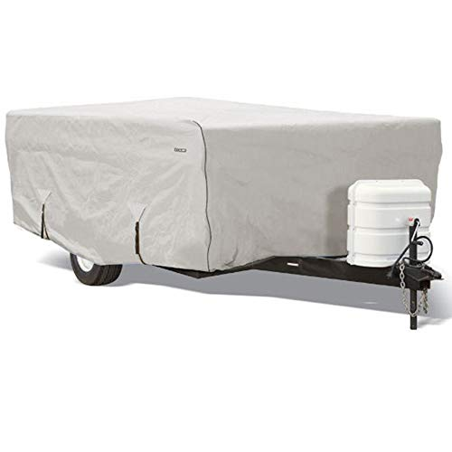 Goldline Pop Up Camper Covers by Eevelle | Waterproof Fabric | Tan and Gray (16-18 Feet, Gray) (Best Small Pop Up Camper)