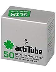 actiTube 2 x actieve koolstoffilters in doos van 50 = 2 x 50 = 100 actieve koolstoffilters, koolstof, zilver, 5 x 4 x 3 cm, 2 stuks